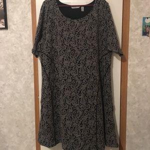 Isaac Mizrahi Live Multi Black/Gray Design Size 2X